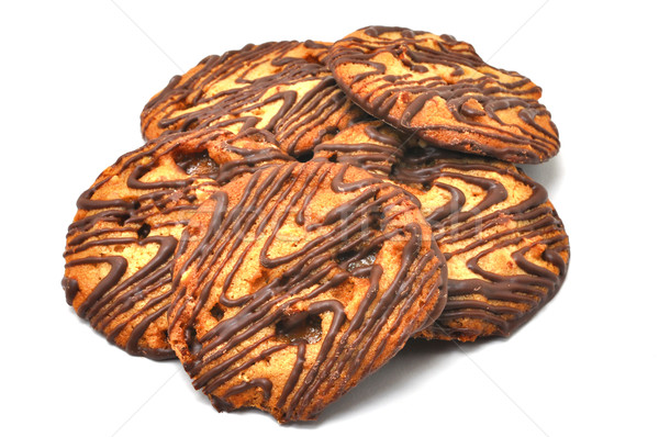 Cookies aislado blanco alimentos dulce Foto stock © dehooks