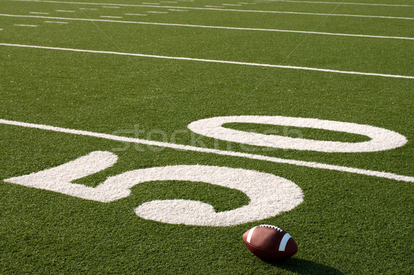 American Football on Field Stock photo © dehooks