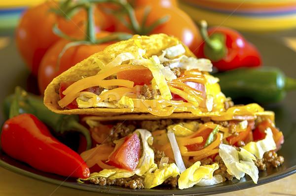 Tacos Closeup Stock photo © dehooks