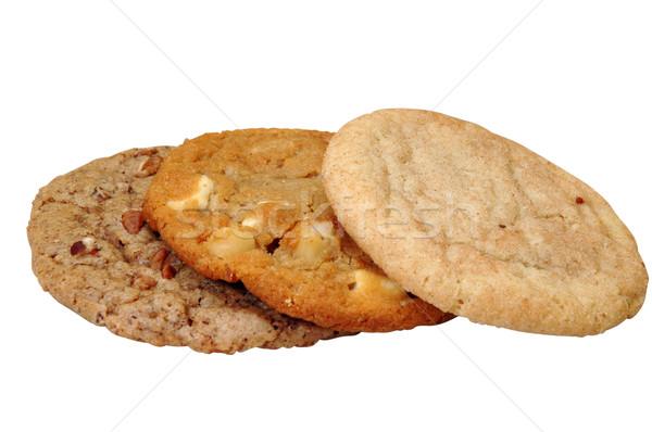 Cookie odizolowany trzy obraz żywności Zdjęcia stock © dehooks