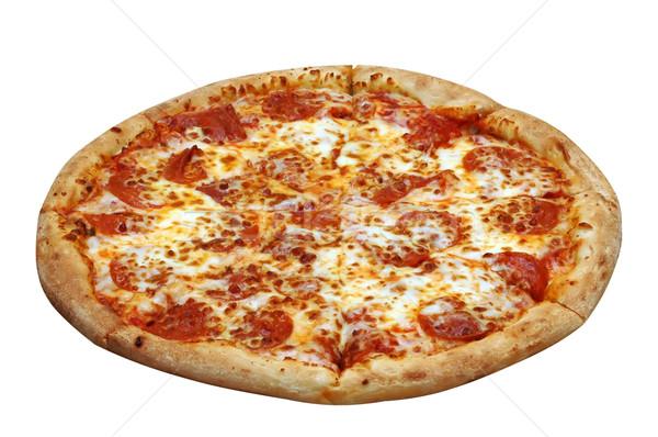 Calabresa pizza queijo carne tomates Foto stock © dehooks