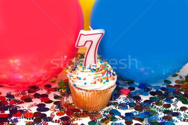 Celebración globos confeti número 10 Foto stock © dehooks