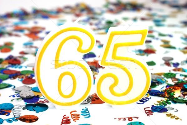 празднования свечу числа конфетти вечеринка рождения Сток-фото © dehooks