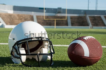 American Football Equipment on Field Stock photo © dehooks