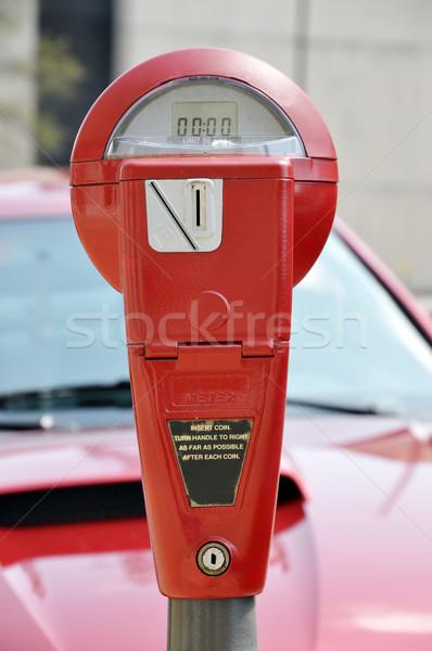 Red Parking Meter Stock photo © dehooks