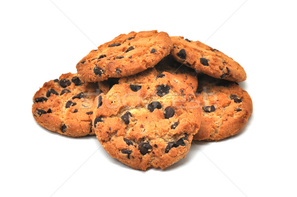 Chocolate Chip Cookies Isolated Stock photo © dehooks