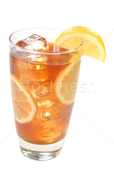 Iced Tea, Lemons, Isolated, Clipping Path Stock photo © dehooks