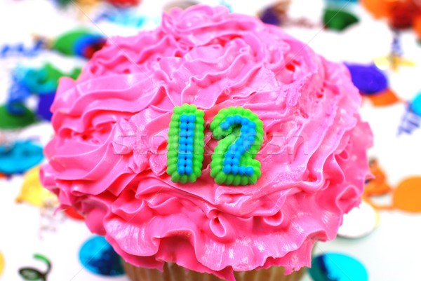 Celebration Cupcake  -  Number 12 Stock photo © dehooks