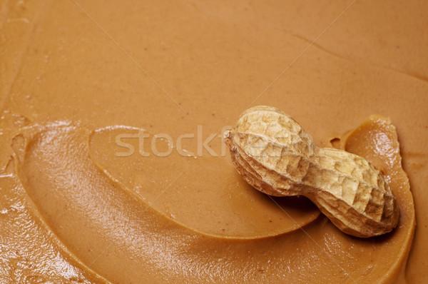 Crudo maní manteca de cacahuete remolino cremoso uno Foto stock © dehooks