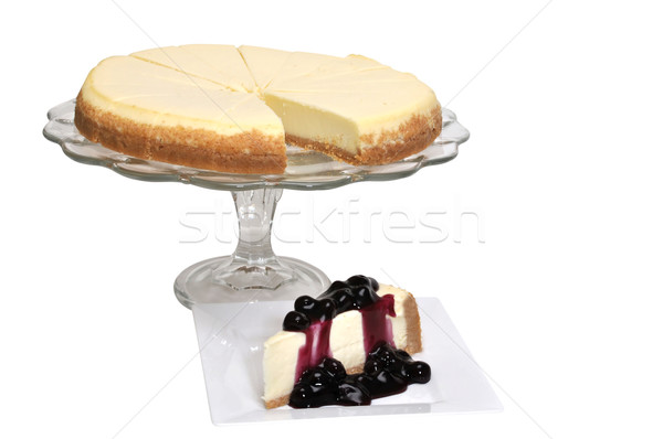 Blueberry Cheesecake Isolated Stock photo © dehooks