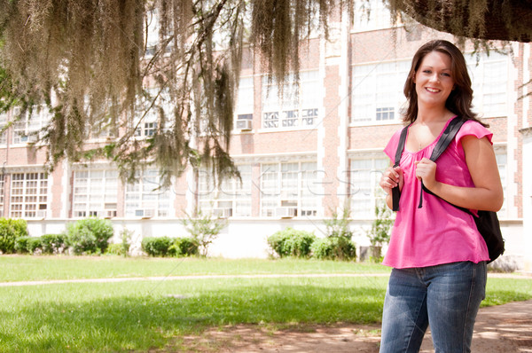 Female College Student Stock photo © dehooks