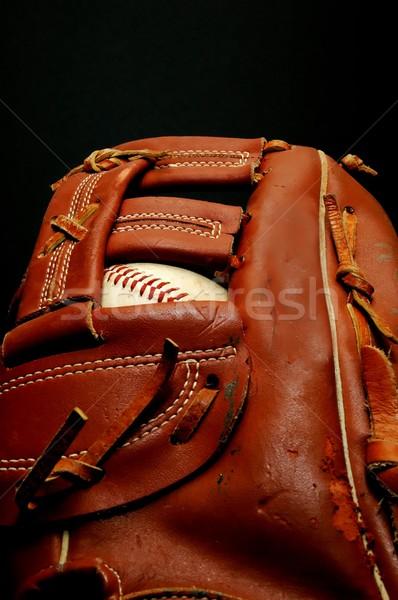 Baseball Glove with Ball Stock photo © dehooks