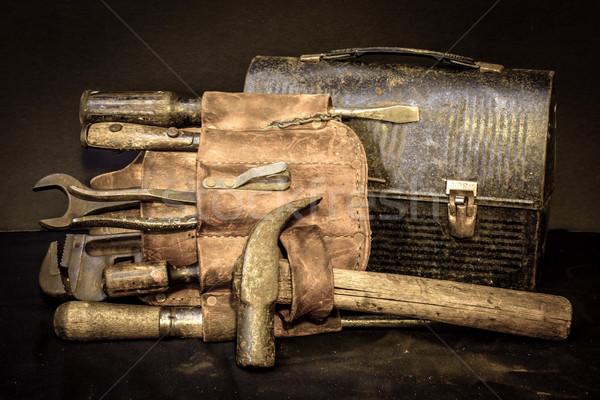 昼休み 古い ヴィンテージ ツール ベルト ツール ストックフォト © dehooks