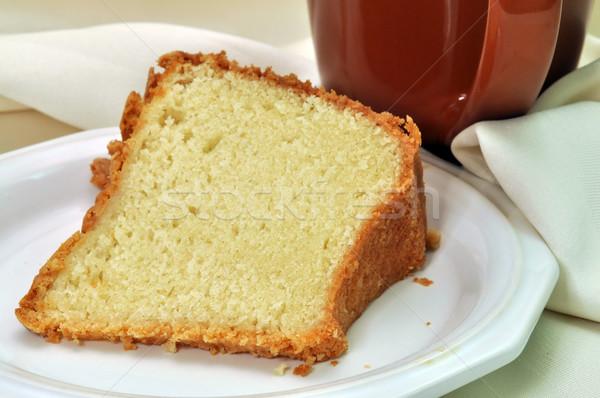 Pond cake servet beker koffie Stockfoto © dehooks