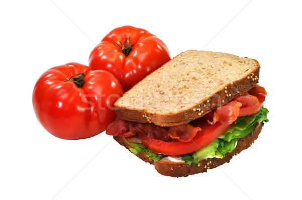 Blt sanduíche tomates isolado bacon Foto stock © dehooks