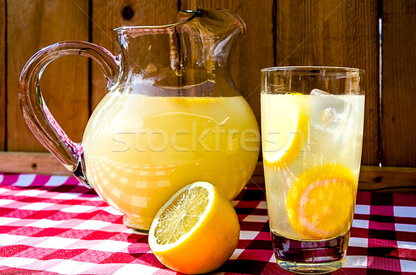Lemonade and Pitcher Stock photo © dehooks