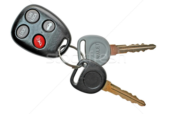 Autosleutels geïsoleerd metaal veiligheid reizen Stockfoto © dehooks