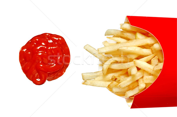 French Fries with Ketchup Stock photo © dehooks
