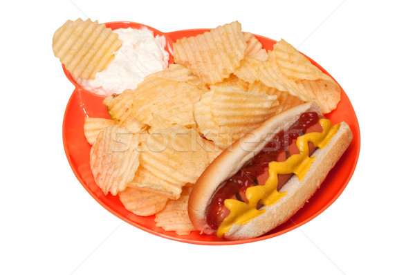 Hot dog isolé blanche Photo stock © dehooks