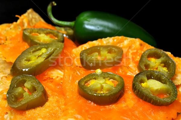 Nachos jalapeno poivrons poivre tranches Photo stock © dehooks