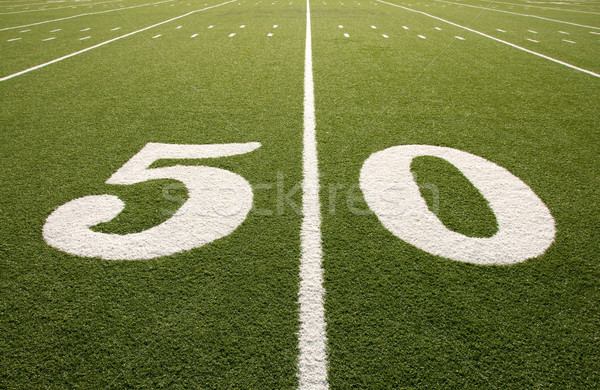 American Football Field 50 Yard Line Stock photo © dehooks