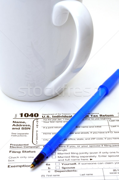 űrlap 1040 közelkép adóhatóság fehér szolgáltatás Stock fotó © dehooks