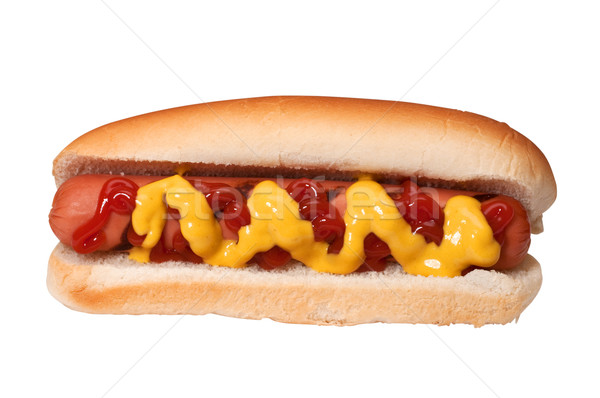 Hot Dog with Ketchup and Mustard Stock photo © dehooks