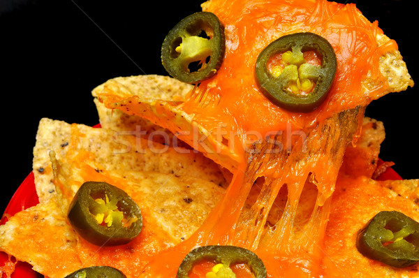 Nachos with Jalapeno Peppers Stock photo © dehooks