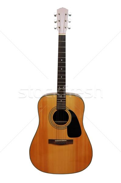 Guitarra acústica aislado imagen música rock Foto stock © dehooks