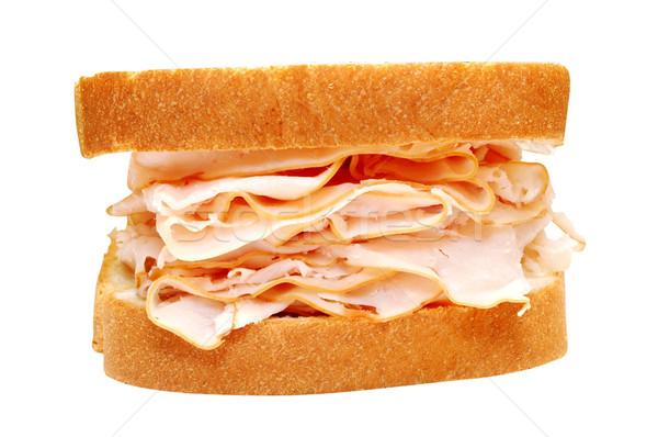 Törökország szendvics izolált kép vágási körvonal étel Stock fotó © dehooks