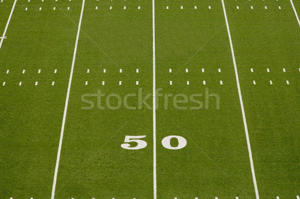 Stock photo: Empty American Football Field