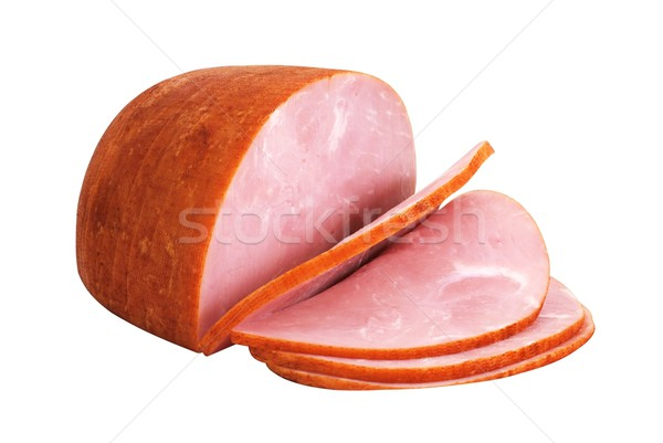 Sliced Ham Isolated Stock photo © dehooks