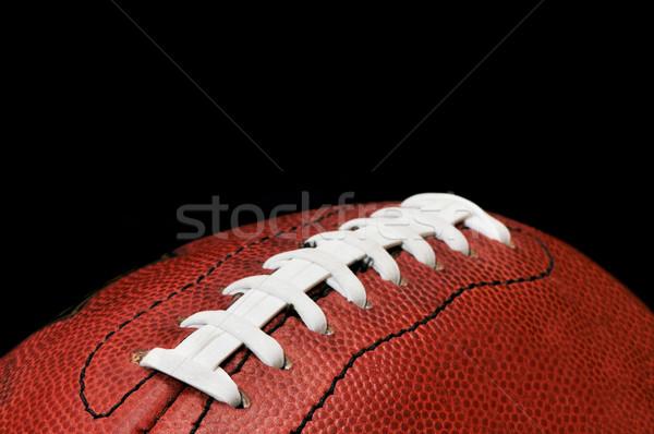 Futebol isolado preto americano esportes Foto stock © dehooks