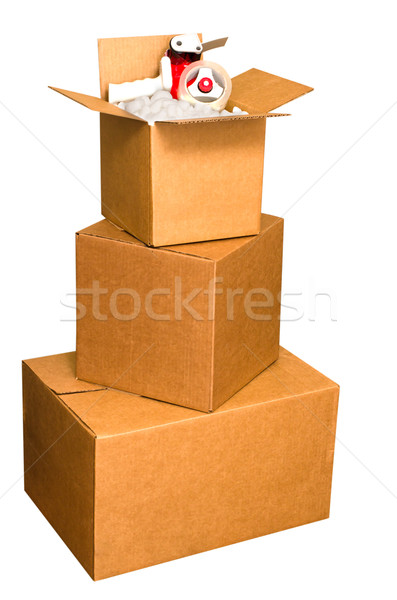 Wysyłki pola orzeszki ziemne taśmy odizolowany Zdjęcia stock © dehooks
