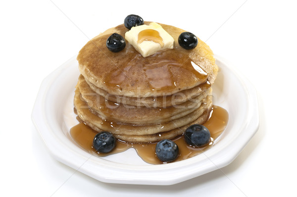 Blueberry Pancakes Isolated Stock photo © dehooks