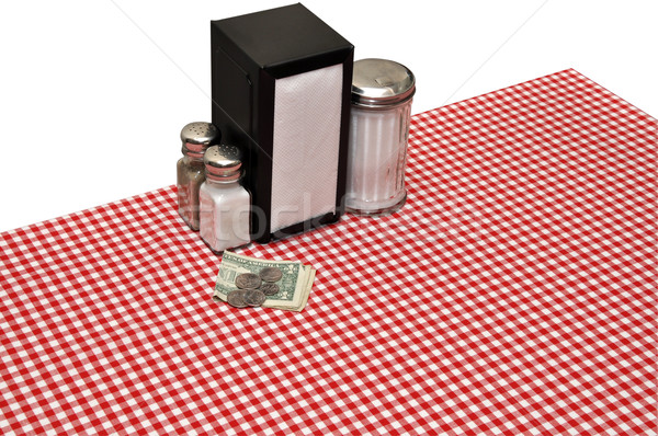 Table Setting at Diner Stock photo © dehooks