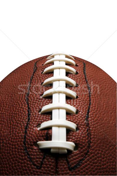 Stock fotó: Amerikai · futball · közelkép · vágási · körvonal · ősz · bőr