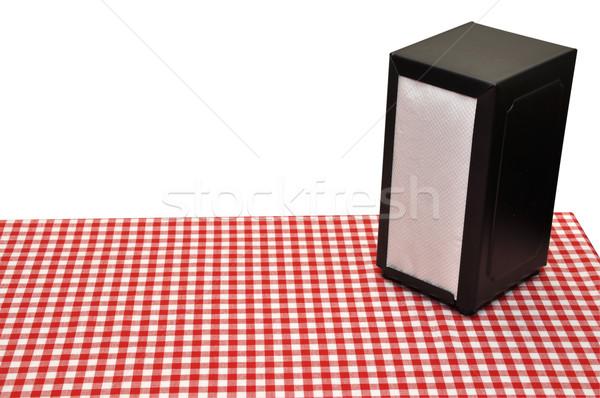 Diner tabela guardanapo isolado branco Foto stock © dehooks