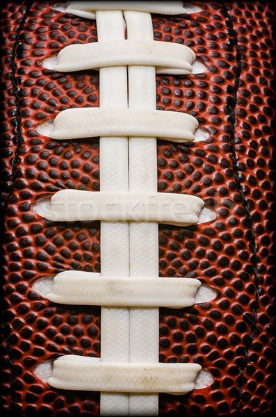 American Football Laces Closeup Stock photo © dehooks