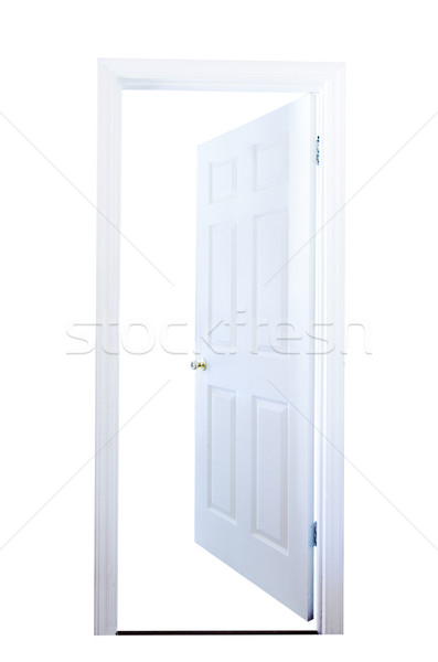Abrir a porta isolado branco casa interior Foto stock © dehooks