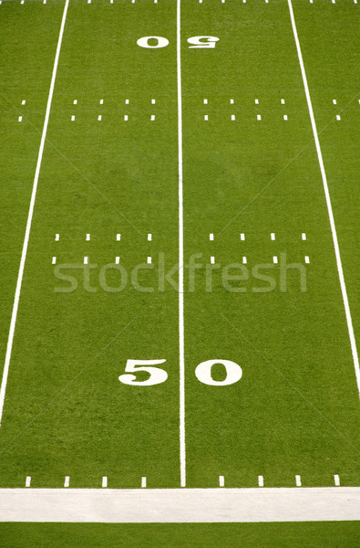 Empty American Football Field Stock photo © dehooks
