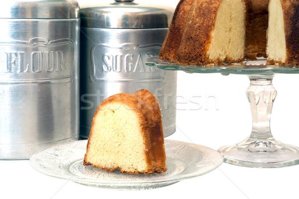 Libra bolo isolado fatia inteiro Foto stock © dehooks