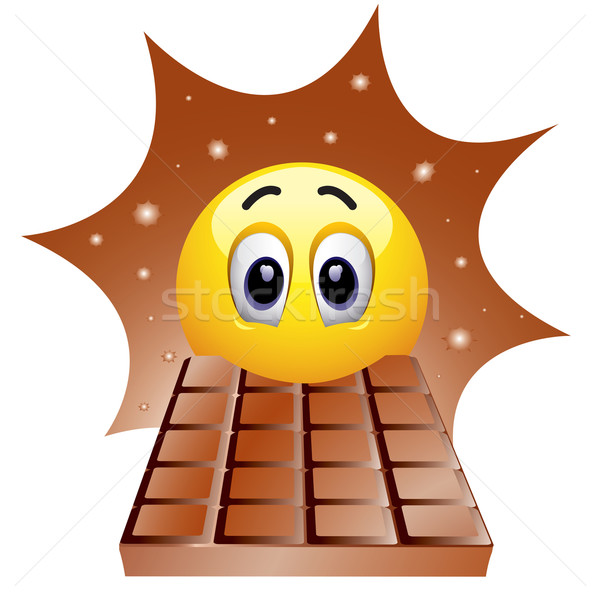 Smileys bal genieten zoete chocolade Stockfoto © dejanj01