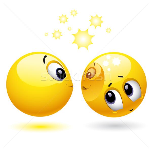Balle autre tête heureux web Photo stock © dejanj01