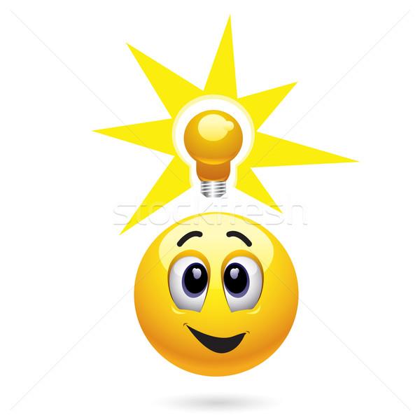 Glimlachend bal groot idee kinderen Stockfoto © dejanj01