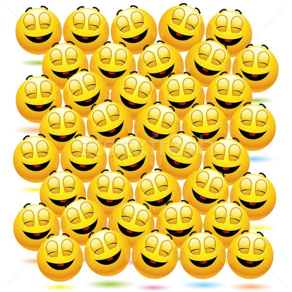 Glimlachend genieten gelegenheid computer Stockfoto © dejanj01