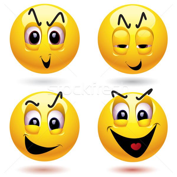 Zło piłka szczęśliwy cartoon Zdjęcia stock © dejanj01
