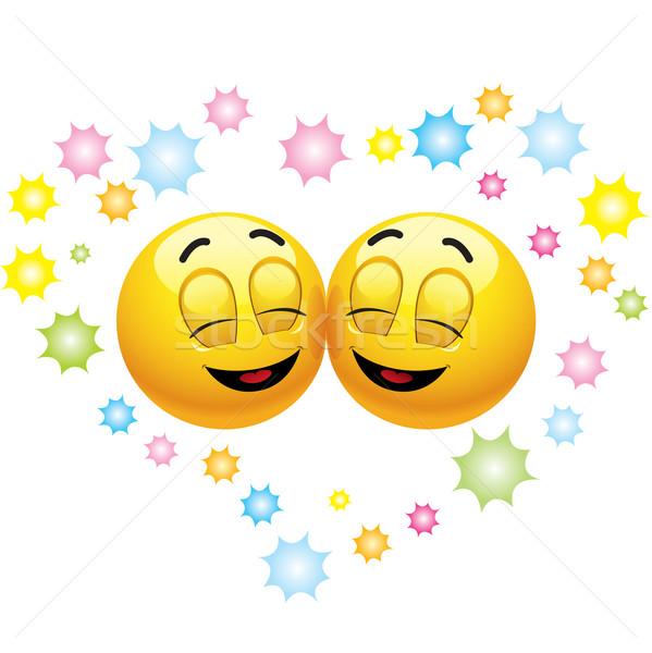 Stockfoto: Glimlachend · gelukkig · liefde · vergadering