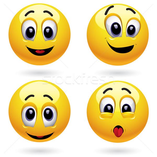 Glimlachend glimlach gelukkig kind Stockfoto © dejanj01