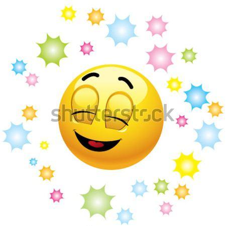 Emotikon mosolyog labda szív baba mosoly Stock fotó © dejanj01